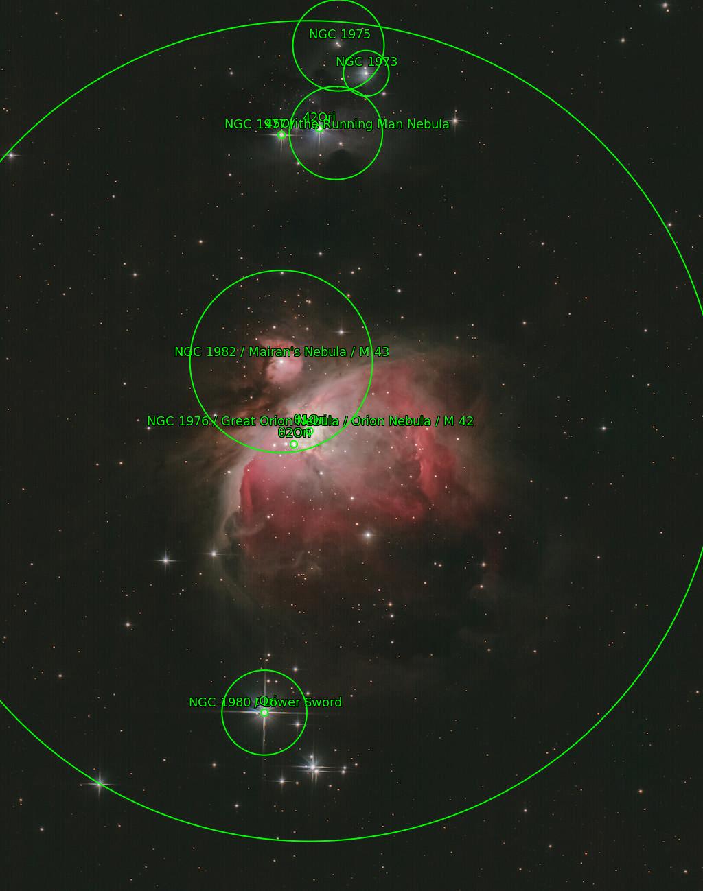 M42 - Orion nebula (astrometry results)