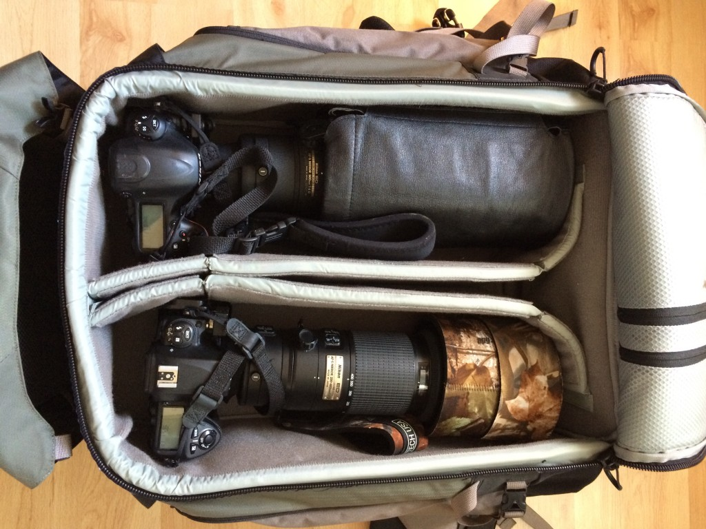 Long-lens only packing