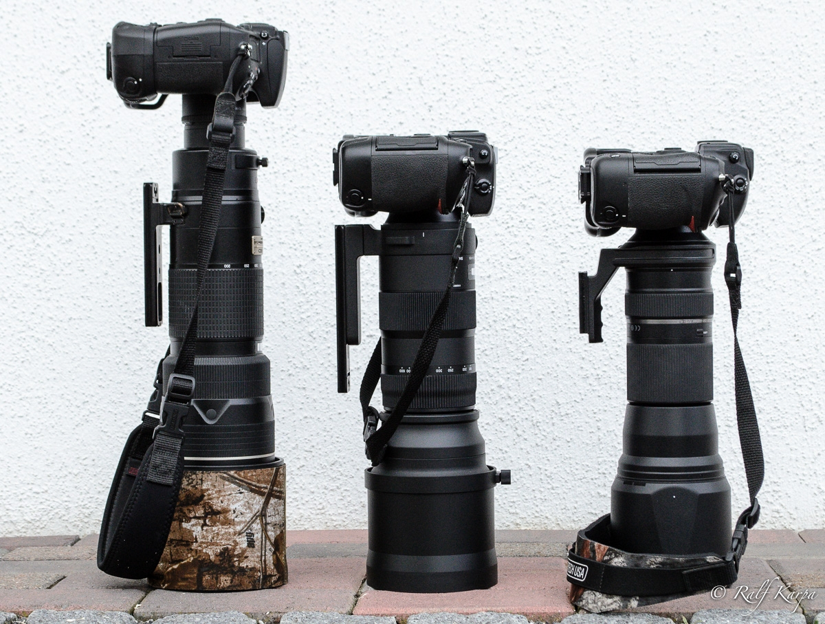 D800 with Nikkor, D2x with Sigma and D3 with Tamron