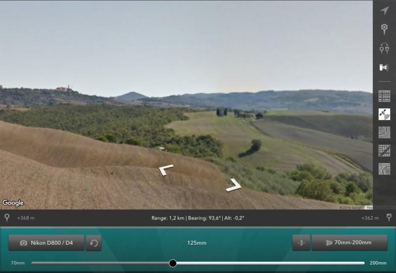 Photo-Transit - Cappella delle Madonna di Vitaleta and Pienza (Street View)